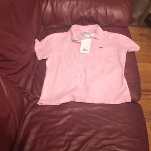 Lacoste woman's pink polo size 38